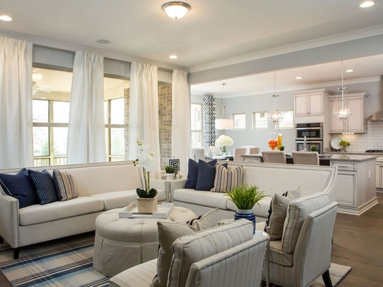 Fresh Perspectives staged this home in Franklin's Ladd Park using traditional furniture.
