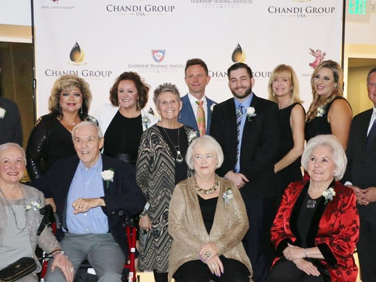 All the honorees and ALA founders:  Top row L to R Congressman Paul Cook, Suzanne Armstrong, Katie Slimko-Stice, Maureen Forman, David Brinkman, Cameron Moulton, Selby Dunham, Andrea Carter, Sheriff Stan Sniff.  Bottom row: Julia Wilmot, Richard Wilmot, Suz Hunt and Roberta Klein.