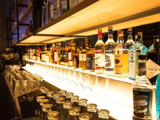 The fully stocked bar at Gayeon.