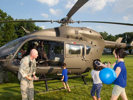 Army Helicopter. 2017 Paramus National Night Out Event
