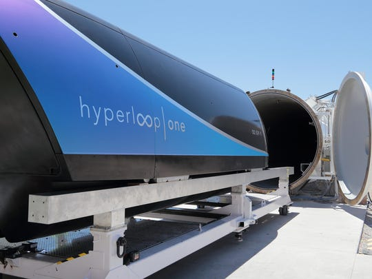 Hyperloop One's test pod just hit nearly 200 mph in