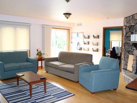 Common areas for Hope House guests and visitors include this newly renovated Living Room space.