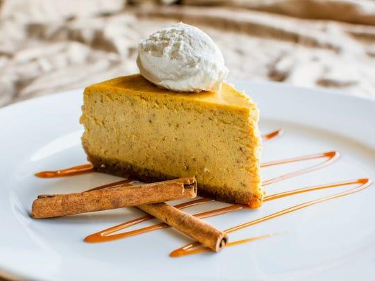 Spiced pumpkin cheesecake.