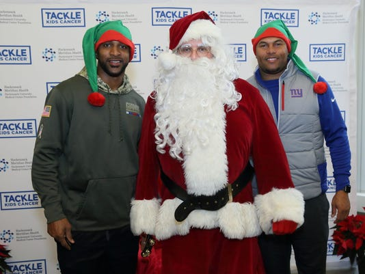 Breakfast with Santa benefitting Tackle Kids Cancer at HackensackUMC Fitness & Wellness Powered by the Giants in Maywood. 12/09/2017