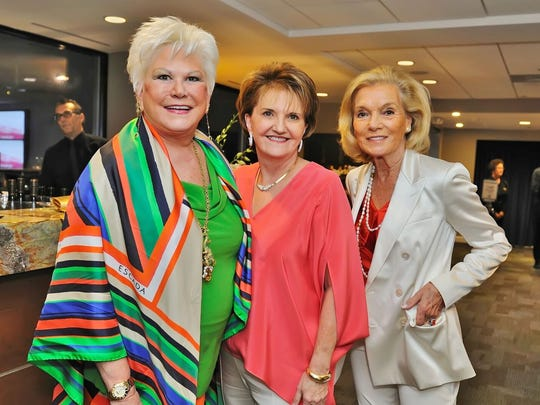 Roe Green, left, Connie M. Frankino and Priscilla Heublein attend the November benefit concert by legendary performer, director and choreographer Tommy Tune at the Maltz Jupiter Theatre.