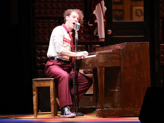 Nat Zegree as Jerry Lee Lewis was a hit with the audience