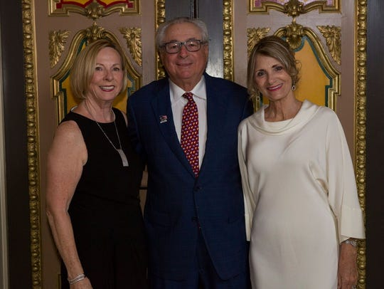 Lyn Ianuzzi, at left, is with Carl and Sharon Domino