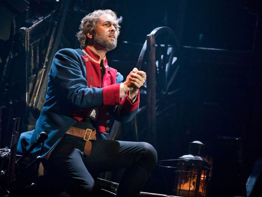 "Nick Cartell, playing Jean Valjean, sings ""Bring Him"