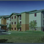 Rendering of Voyager Apartments, a 38-unit affordable senior housing project being developed in Great Falls by Accessible Space Inc.