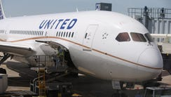This file photo from May 20, 2013, shows a United Airlines