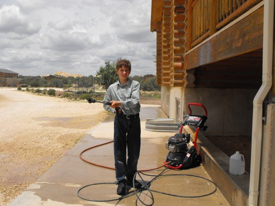 Raymond Jeffs, son of Warren Jeffs, at the YFZ Ranch compound in Eldorado, Texas.