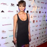 Halle Berry last month, looking enviably slim as a new mom.