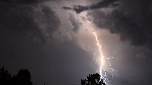 Lightning is seen from Vestavia Hills, Ala., a suburb of Birmingham, on June 24, 2015. A huge scientific field campaign is underway this summer in the central U.S. to study nighttime thunderstorms.