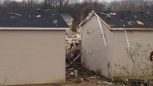Explosion reported in the 3300 block of 60th in Hamilton in Allegan County.