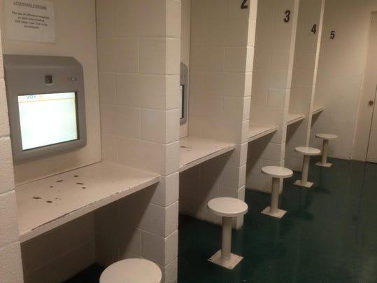 Visiting room at jail