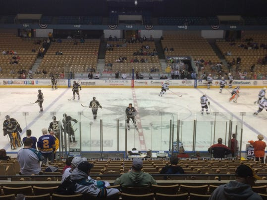 The Bears and Sharks take to the DCU Center ice in anticipation of tonight's Game 2 showdown.