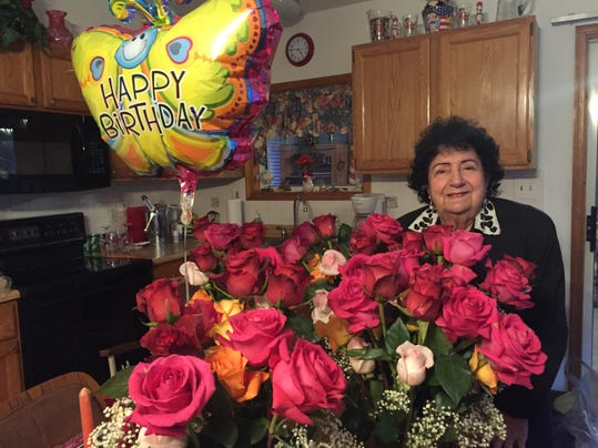 90 roses for 90 years Anna Foultz