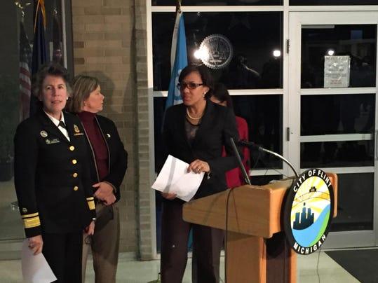 Flint water lead level announcement