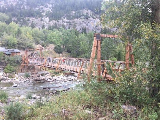 Medicine Springs Pack Bridge overview
