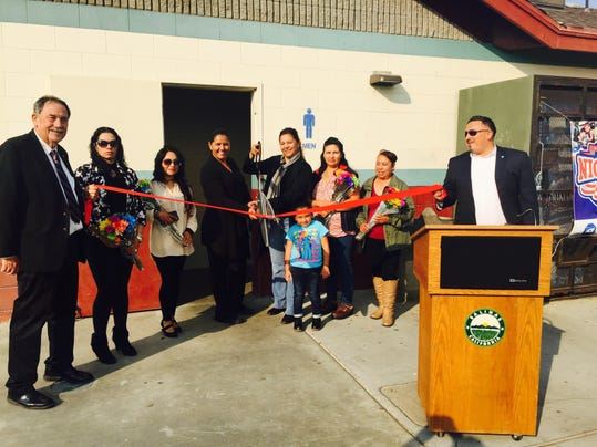 Ribbon cutting at Constitution Soccer Field
