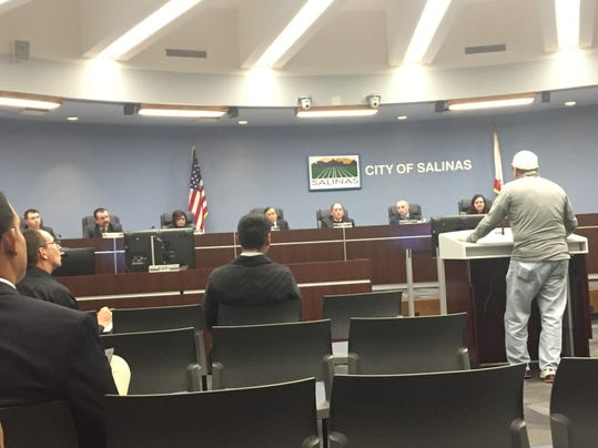 Salinas City Council meeting