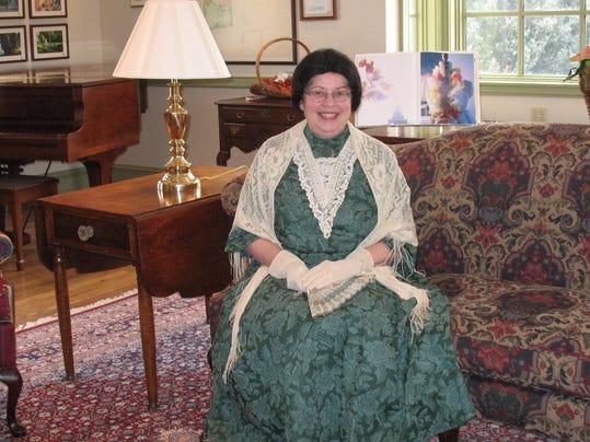 Alice Hoover portrayal at Roscoe Village Coshocton Ohio.JPG