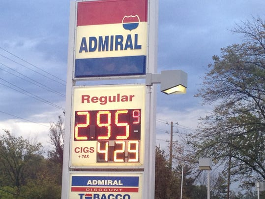 Area gas prices falling below $3 a gallon
