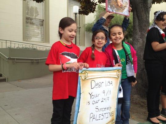SNA0715 gaza protest