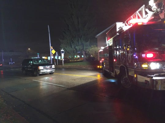 One hospitalized after crash in front of fire station for Department of motor vehicles stevens point wisconsin
