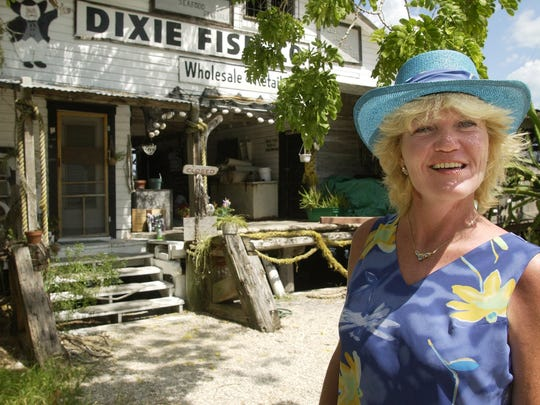 Suzanne Guthrie, former owner of the Dixie Fish Co. on San Carlos Island, closed the historic fish house and put it up for sale in 2002.