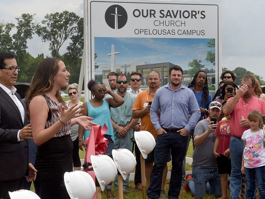 Our Savior's Church Opelousas Campus held a groundbreaking Wednesday for the new church being built near the Harry Guibeau exit and Interstate 49
