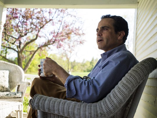 Matt Dunne, Democratic candidate for governor, at home