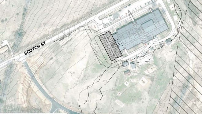 The gray area indicates the location of the proposed addition at George Whitten Elementary in Hendersonville.