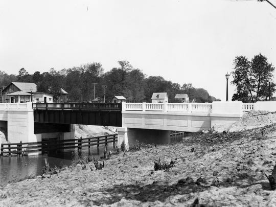 The second bridge in Rehoboth Beach over the canal in 1920s. This bridge was demolished in the 1980s.