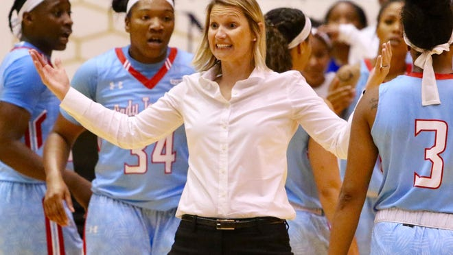 Techsters coach Brooke Stoehr saw her team defeat FIU on the road Saturday.