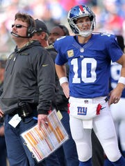 Eli Manning will not start this week, ending his consecutive games started streak at 210.