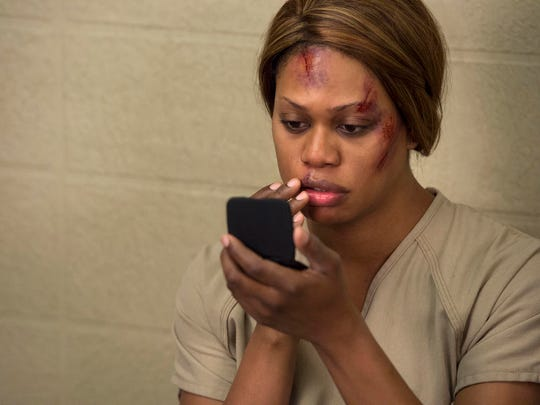 "Laverne Cox has been the breakout star of ""Orange Is the New Black."" She plays transgender inmate Sophia."