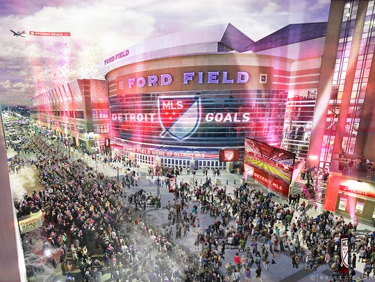 New renderings of how Ford Field would look if Detroit