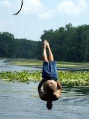 Get back to basics with a rope swing on the Wacissa River near Monticello.
