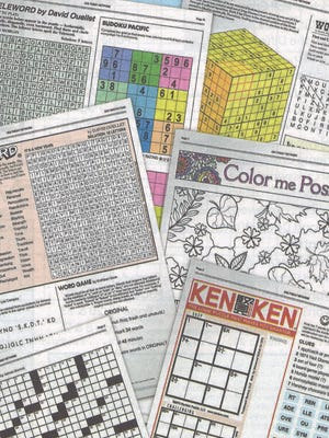 The Weekly Puzzles book, available in Gannett newspapers.