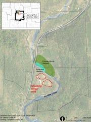 Map of the Lansing Rod and Gun Club.