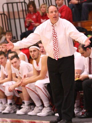 Port Clinton coach Von Graffin gestures during a game this season.