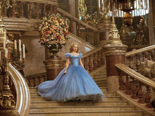 Lily James as 'Cinderella.'