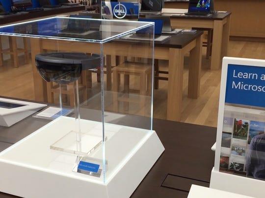 Microsoft's futuristic Hololens headset is on display