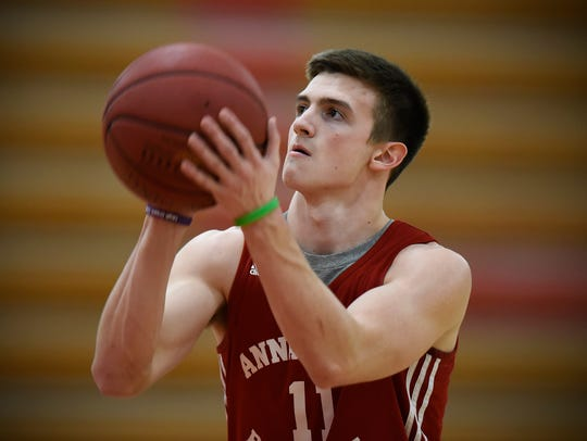 Annandale's Alex Hohenstein concentrates while shooting