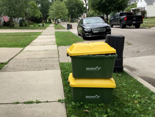 Some households that recycle clearly have outgrown