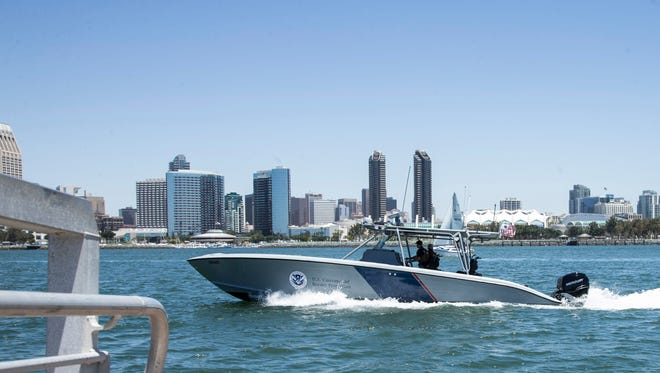 The border fence isn't the only thing to patrol. In San Diego, border agents also monitor the water for drug smuggling.