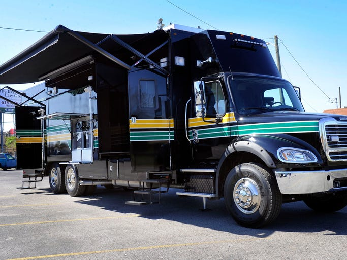The Davison County Sheriff's Office has purchased another mobile booking station for processing arrestees Thursday April 17, 2014, in Nashville, Tenn.