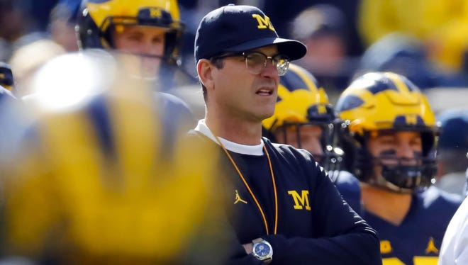 Michigan Wolverines head coach Jim Harbaugh.