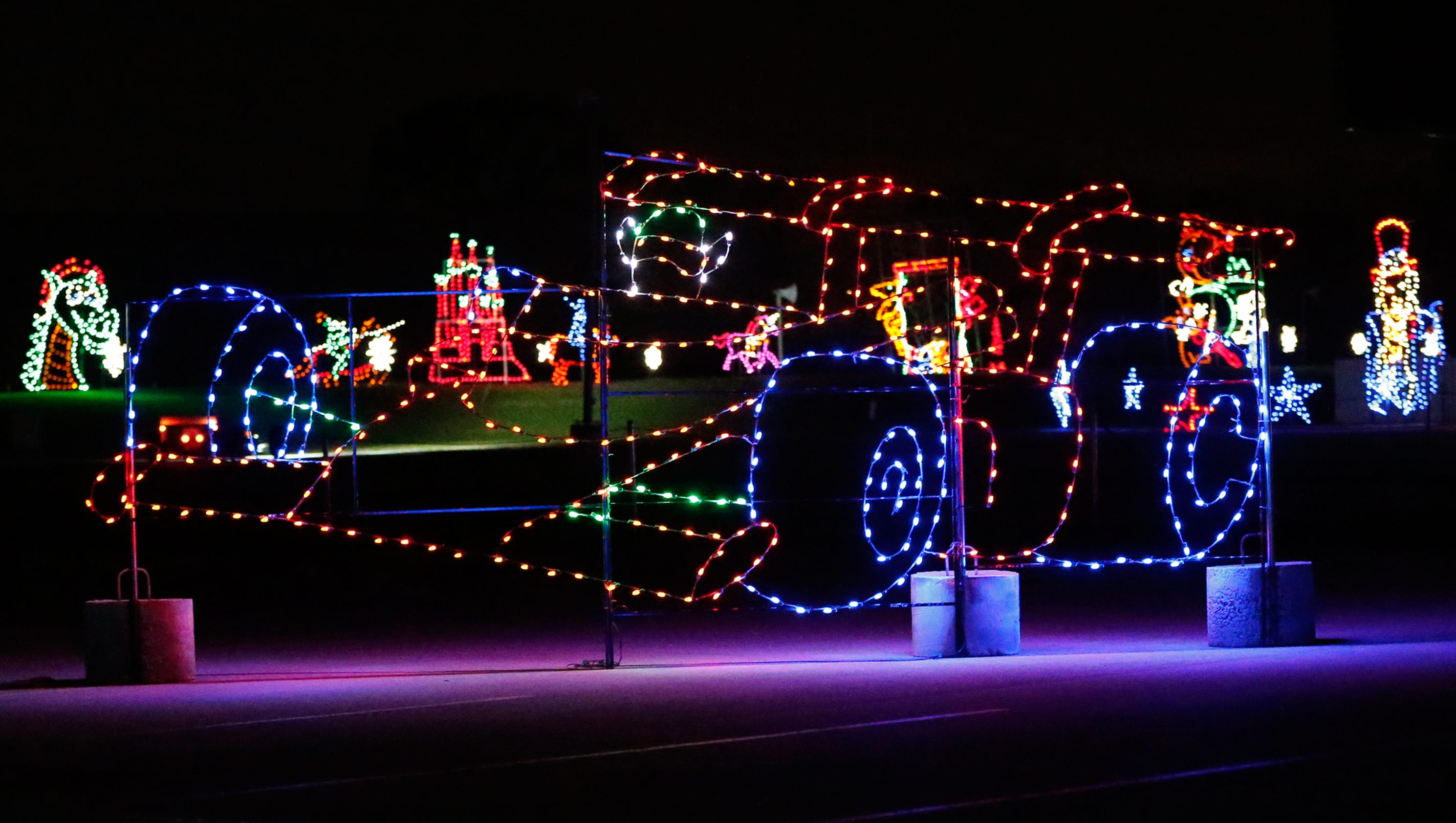 Motor Speedway Christmas Lights